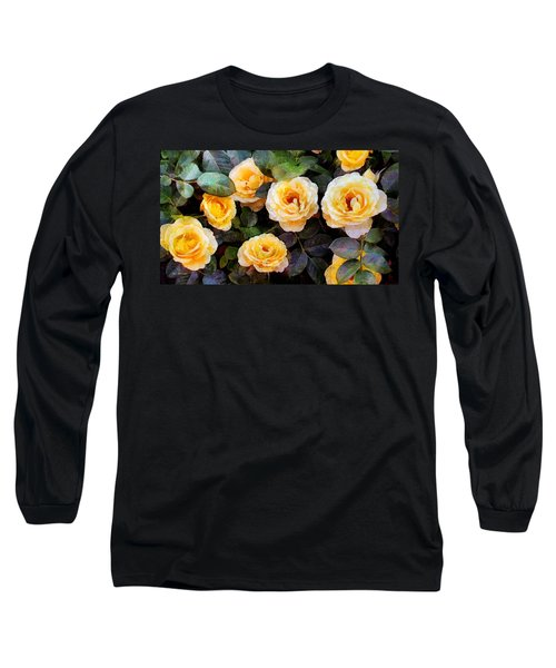 Pierre's Peach Roses Long Sleeve T-Shirt