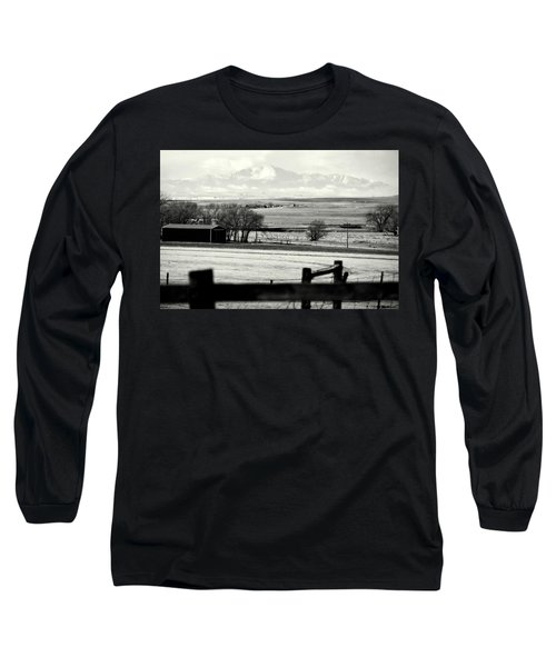 Pikes Peak From Ramah Long Sleeve T-Shirt by Clarice  Lakota