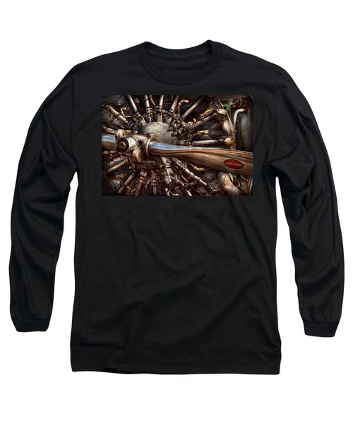 Pilot - Plane - Engines At The Ready  Long Sleeve T-Shirt by Mike Savad