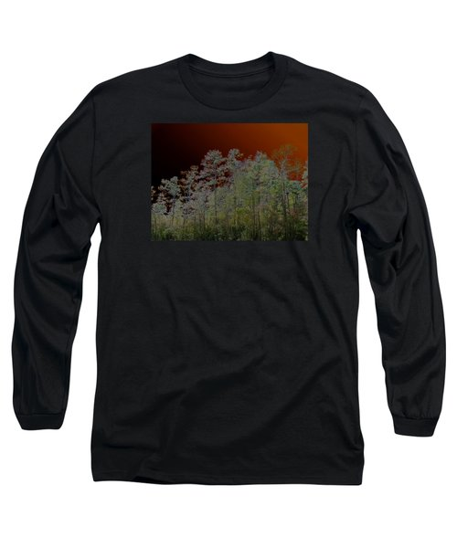 Pine Forest Long Sleeve T-Shirt by Connie Fox