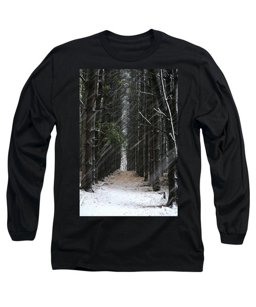 Pines In Snow Long Sleeve T-Shirt