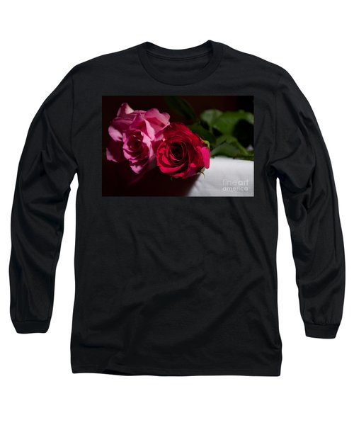Long Sleeve T-Shirt featuring the photograph Pink And Red Rose by Matt Malloy