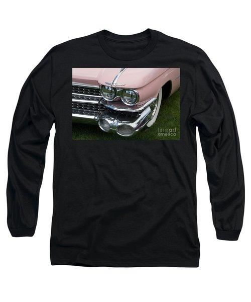 Long Sleeve T-Shirt featuring the photograph Pink Caddy by Gunter Nezhoda