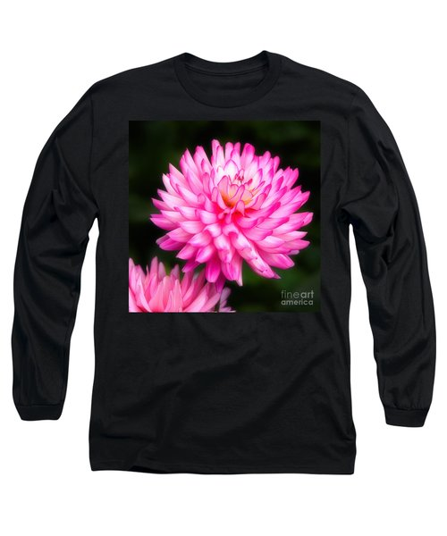 Pink Chrysanths Long Sleeve T-Shirt