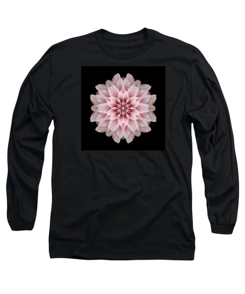 Pink Dahlia Flower Mandala Long Sleeve T-Shirt