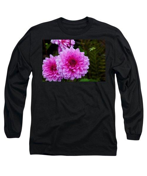 Pink Dahlias Long Sleeve T-Shirt