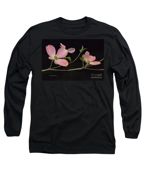 Long Sleeve T-Shirt featuring the photograph Pink Dogwood Branch  by Jeannie Rhode