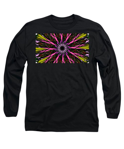 Long Sleeve T-Shirt featuring the digital art Pink Explosion by Elizabeth McTaggart