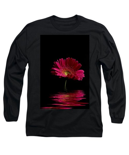 Pink Gerbera Flood 1 Long Sleeve T-Shirt