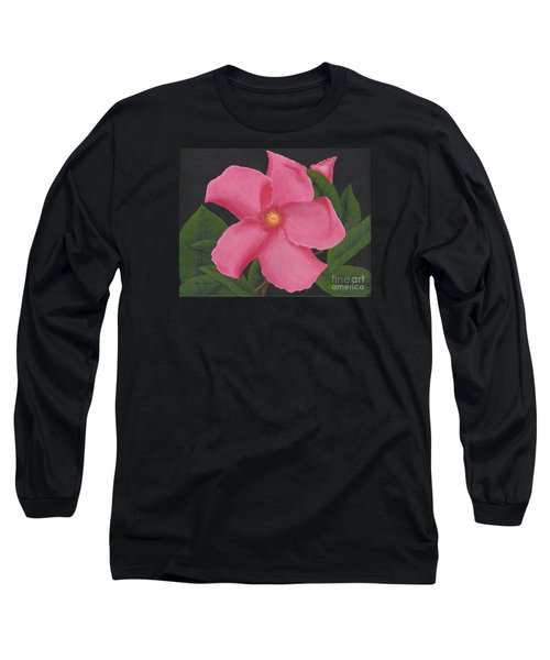 Pink Mandevilla Long Sleeve T-Shirt by Billinda Brandli DeVillez