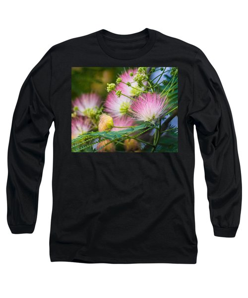 Pink Pom Poms Long Sleeve T-Shirt