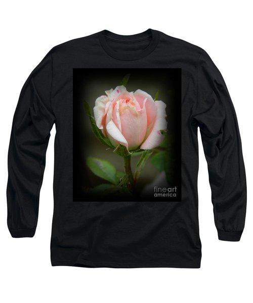 Pink Tea Rose Long Sleeve T-Shirt