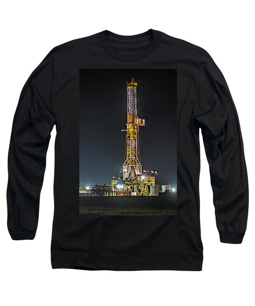 Pioneer Drill Rig # 77 Long Sleeve T-Shirt by Paul Freidlund