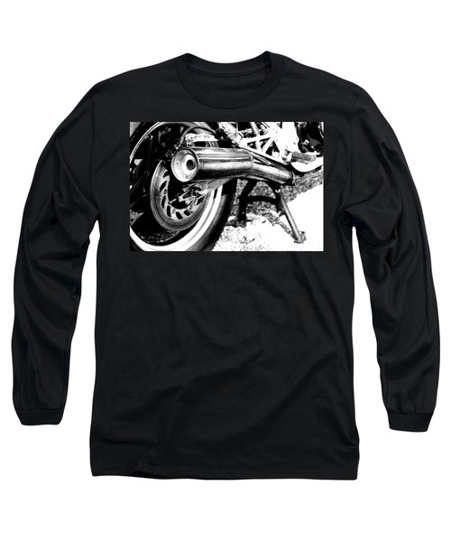 Pipe Black And White Long Sleeve T-Shirt
