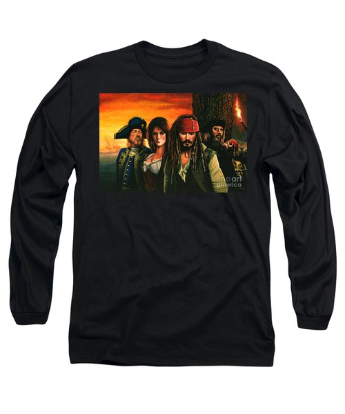 Pirates Of The Caribbean  Long Sleeve T-Shirt by Paul Meijering