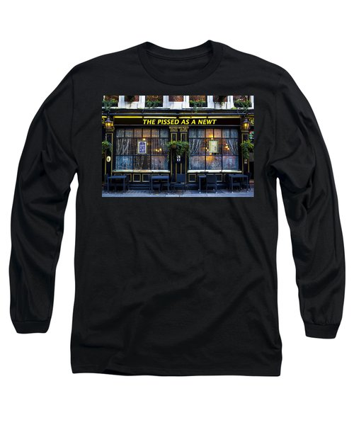 Pissed As A Newt Pub  Long Sleeve T-Shirt by David Pyatt