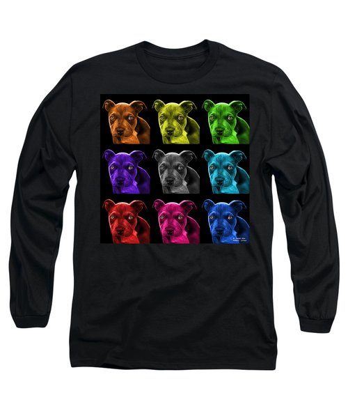Pitbull Puppy Pop Art - 7085 Bb - M Long Sleeve T-Shirt
