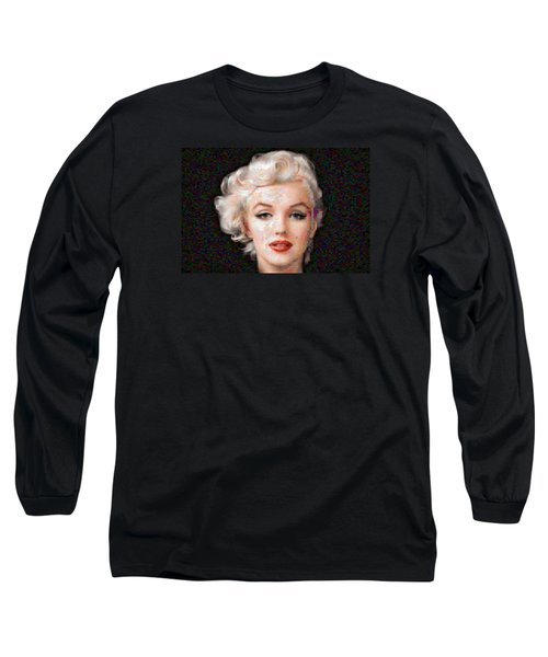 Pixelated Marilyn Long Sleeve T-Shirt