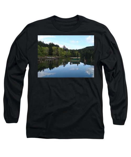 Place Of The Blue Grouse Long Sleeve T-Shirt by Cheryl Hoyle