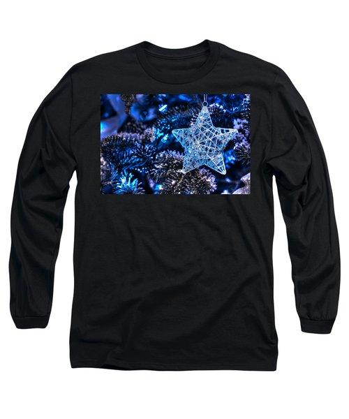 Blue Christmas Long Sleeve T-Shirt