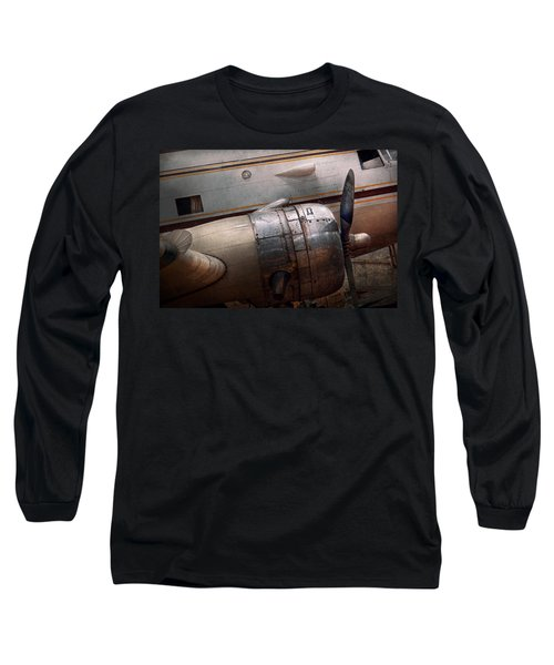 Plane - A Little Rough Around The Edges Long Sleeve T-Shirt by Mike Savad