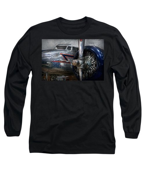 Plane - Hey Fly Boy  Long Sleeve T-Shirt by Mike Savad