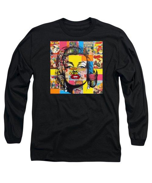 Planet Marilyn Long Sleeve T-Shirt by Joseph Sonday