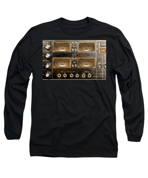 Playback Recording Vu Meters Grunge Long Sleeve T-Shirt