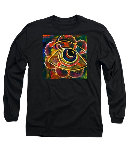 Long Sleeve T-Shirt featuring the painting Playful Spirit Eye by Deborha Kerr