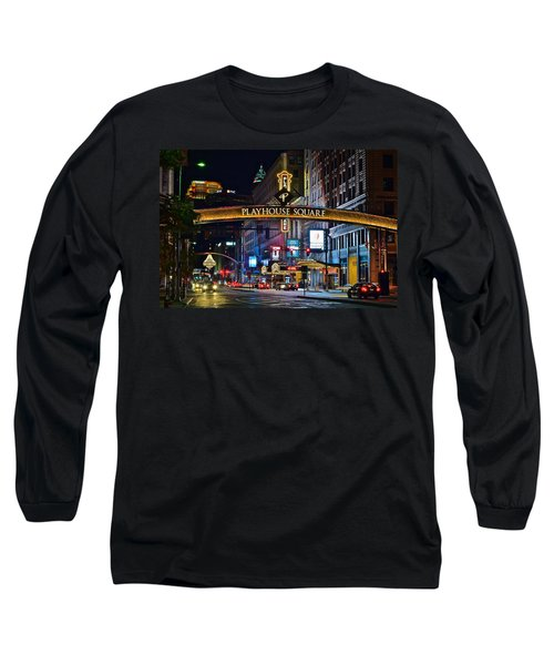 Playhouse Square Long Sleeve T-Shirt by Frozen in Time Fine Art Photography
