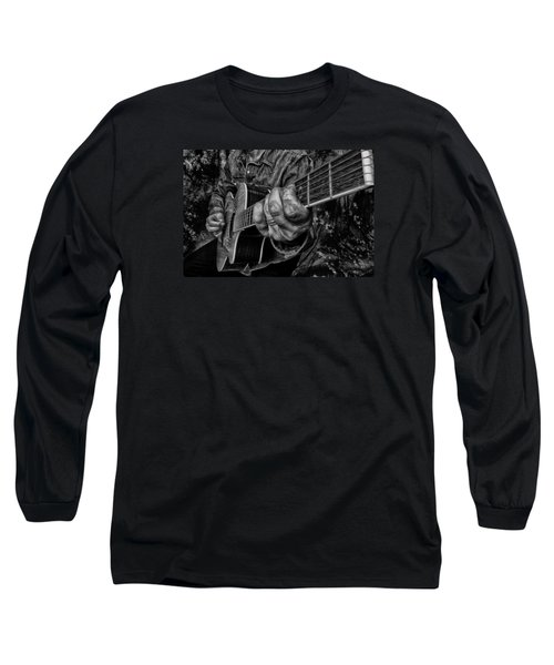 Playin The Blues Long Sleeve T-Shirt by Kevin Cable