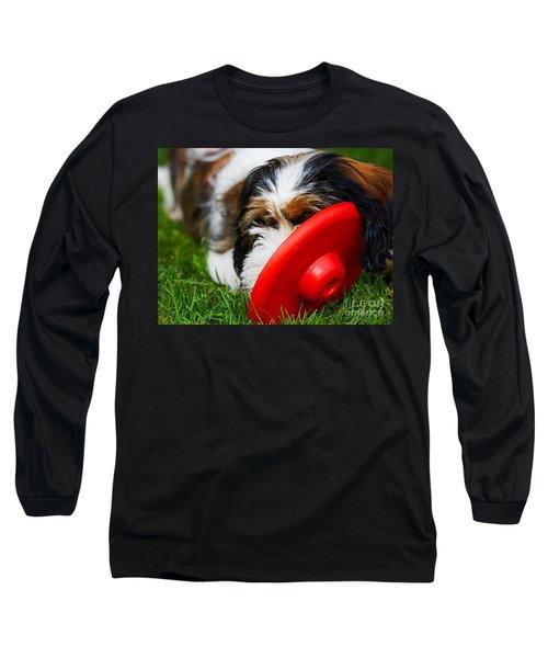 Playing Dog Long Sleeve T-Shirt