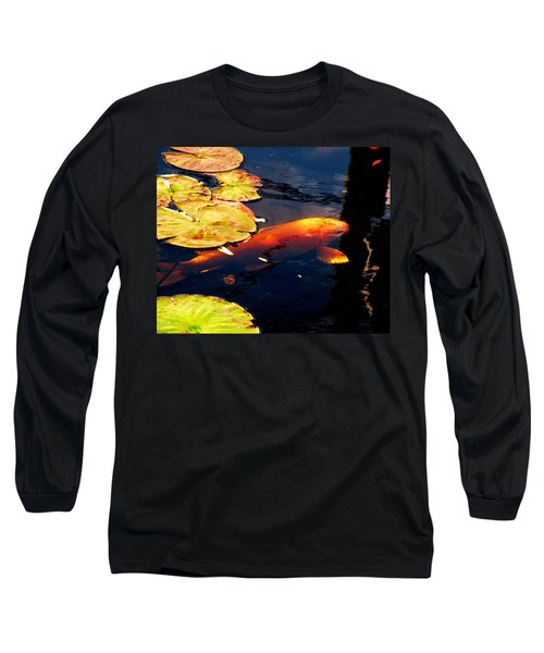 Long Sleeve T-Shirt featuring the photograph Playing Koi by Kim Bemis