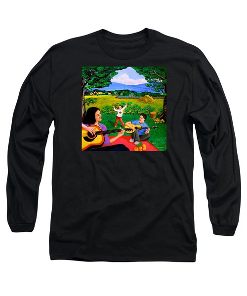 Playing Melodies Under The Shade Of Trees Long Sleeve T-Shirt