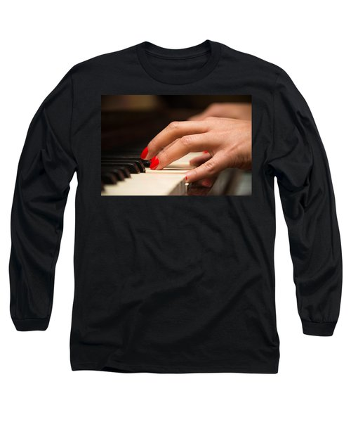Playing The Piano Long Sleeve T-Shirt