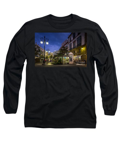 Plaza De Las Flores Cadiz Spain Long Sleeve T-Shirt by Pablo Avanzini