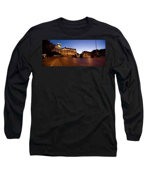 Plaza De Neptuno And Palace Hotel Long Sleeve T-Shirt