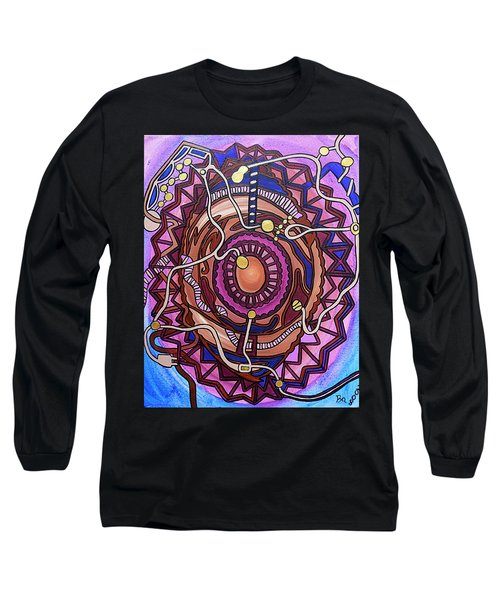 Long Sleeve T-Shirt featuring the painting Plugged In by Barbara St Jean