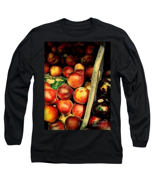 Long Sleeve T-Shirt featuring the photograph Plums And Nectarines by Miriam Danar