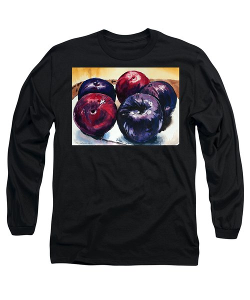 Plums Long Sleeve T-Shirt by Joey Agbayani