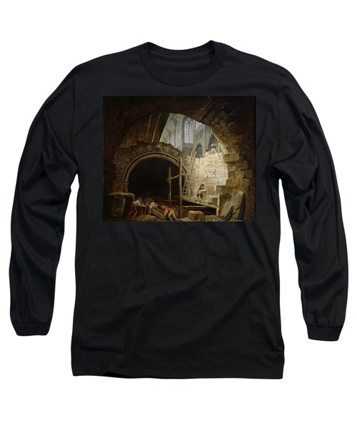 Plundering The Royal Vaults At St. Denis In October 1793 Oil On Canvas Long Sleeve T-Shirt