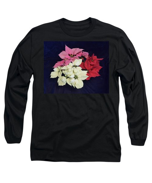 Poinsettia Tricolor Long Sleeve T-Shirt