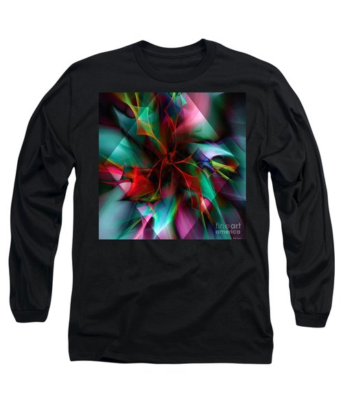 Poinsettia Warm Diamond  Long Sleeve T-Shirt