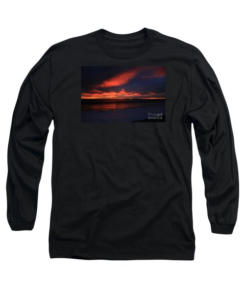 Long Sleeve T-Shirt featuring the photograph Point Mugu 1-9-10 Just After Sunset by Ian Donley