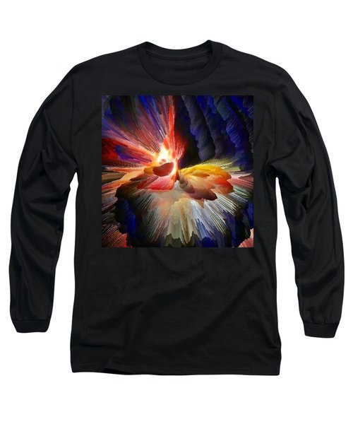 Point Of Impact - Abstract Dancers Long Sleeve T-Shirt by Anna Porter