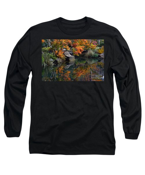 Pond In Autumn Long Sleeve T-Shirt