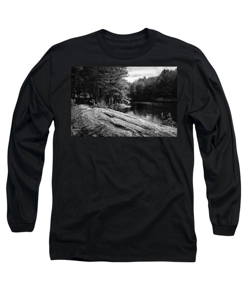 Long Sleeve T-Shirt featuring the photograph Pondside by Mark Myhaver