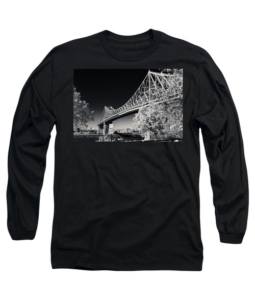 Pont Jacques Cartier Long Sleeve T-Shirt by Bianca Nadeau