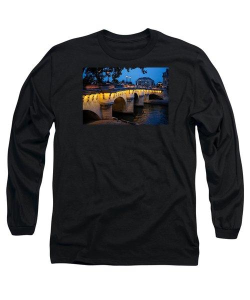 Pont Neuf Bridge - Paris France I Long Sleeve T-Shirt by Georgia Mizuleva