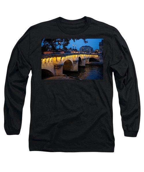 Pont Neuf Bridge - Paris France Long Sleeve T-Shirt